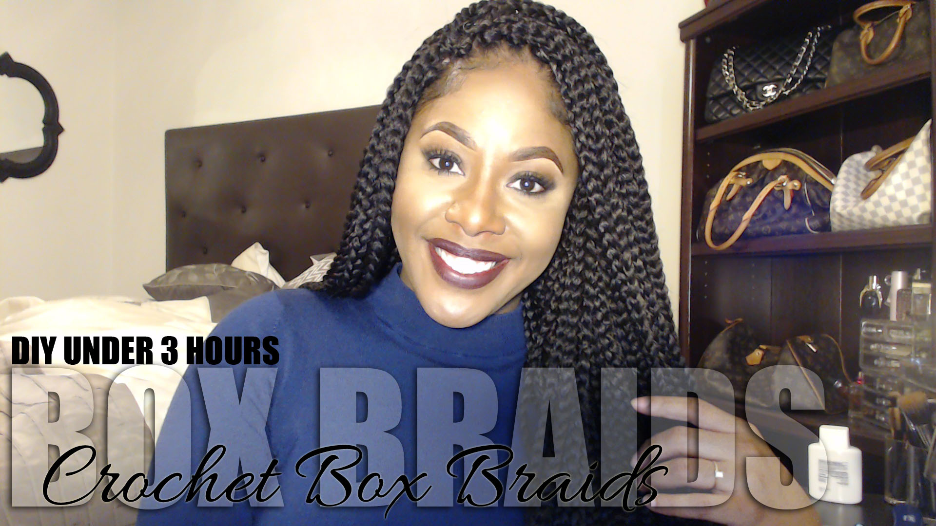 Box Braids Using Crochet Method : Quick & Easy Box Braids using Crochet Method - Makeup by Mesha