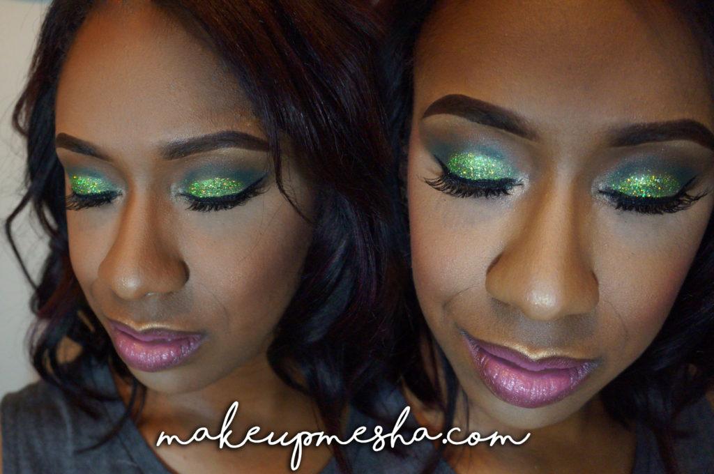Green Glittery Glam
