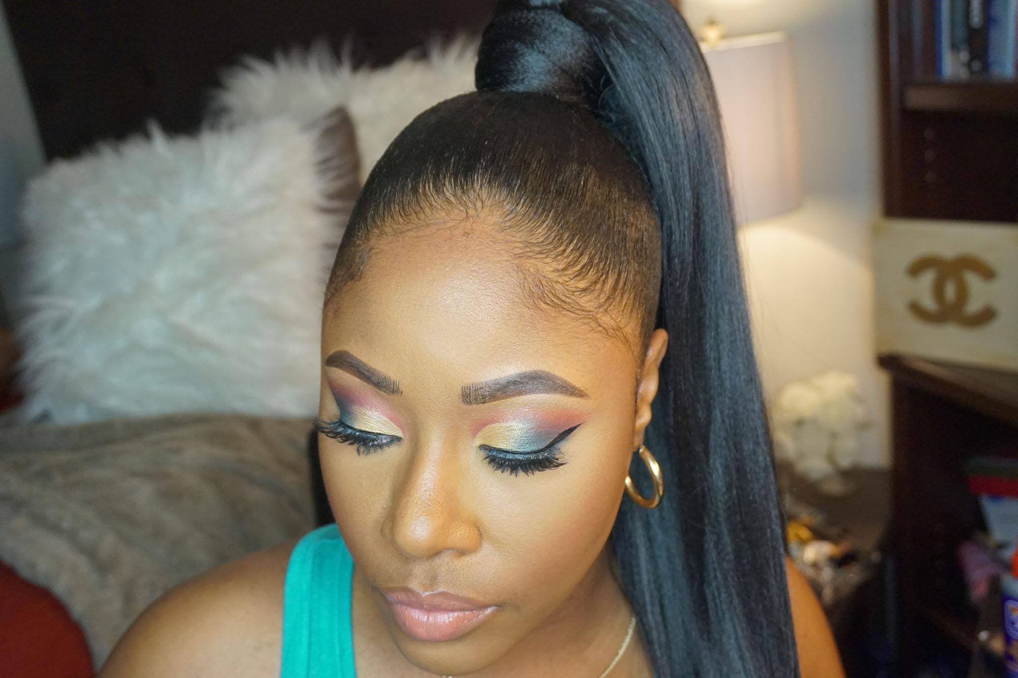 Easy Sleek High Drawstring Ponytaill Makeup By Mesha Beauty Bishop